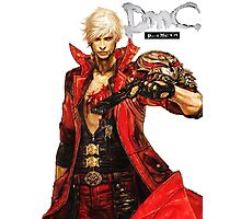 Dante with Red Rose Photographic Print