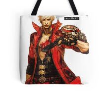 Dante with Red Rose Tote Bag