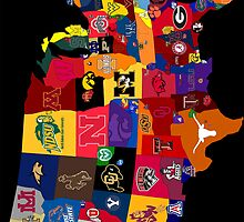 College Football Map Poster by kalebtillman