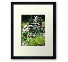 Angel and the Waterfall Framed Print