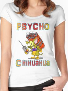 Psycho  Chihuahua Women's Fitted Scoop T-Shirt