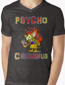 Psycho  Chihuahua Mens V-Neck T-Shirt