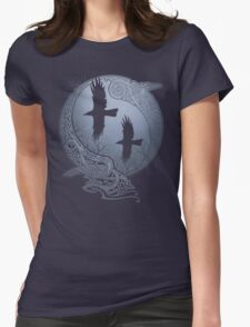 ODIN'S RAVENS Womens Fitted T-Shirt