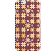 Southwest Stars Maroon iPhone Case/Skin