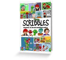 Scribbles Mashup! Greeting Card