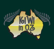 KIWI in OZ! Australian Aussie map  by jazzydevil