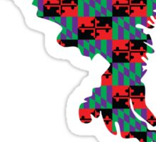 Maryland Flag [Purple][Repeat] | State Line | SteezeFactory.com Sticker