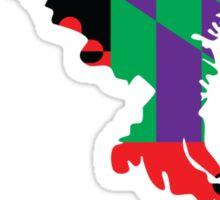 Maryland Flag [Purple] | State Line | SteezeFactory.com Sticker