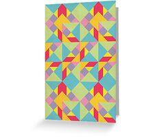 Colorful Tangram Pattern Greeting Card