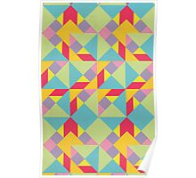 Colorful Tangram Pattern Poster
