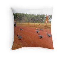 Turkeys at Bramwell Station, Cape York Throw Pillow
