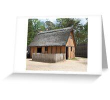Jamestown Hut Greeting Card