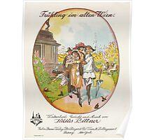 FRUHLING IM ALTEN WIEN (vintage illustration) Poster