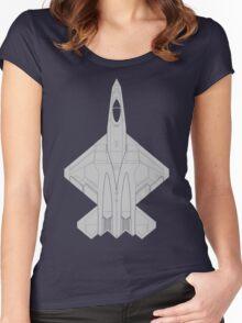 Northrop YF-23 Black Widow II Women's Fitted Scoop T-Shirt