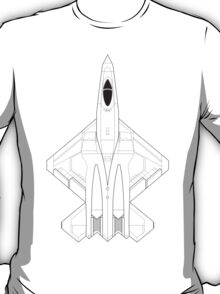 Northrop YF-23 Black Widow II Blueprint T-Shirt