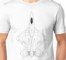 Northrop YF-23 Black Widow II Blueprint Unisex T-Shirt