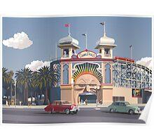 Luna Park - Melbourne Poster