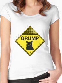 Grumpy Cat Warning Women's Fitted Scoop T-Shirt
