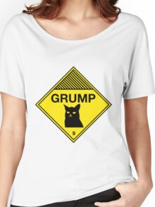 Grumpy Cat Warning Women's Relaxed Fit T-Shirt