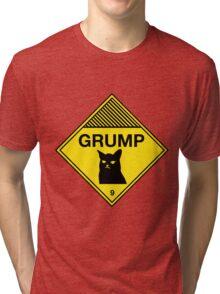 Grumpy Cat Warning Tri-blend T-Shirt