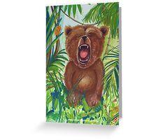 Roaring Teddy Greeting Card