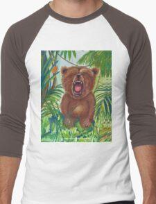 Roaring Teddy Men's Baseball ¾ T-Shirt