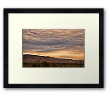 Flinders sunset Framed Print