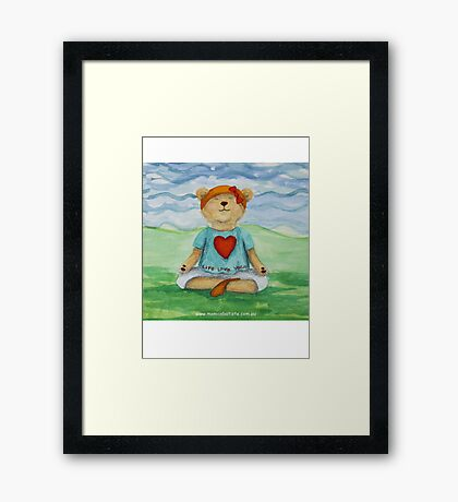 Live Love Yoga Bear  Framed Print