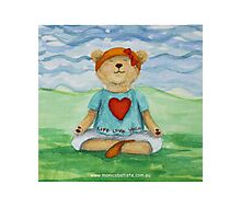 Live Love Yoga Bear  Photographic Print