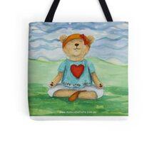 Live Love Yoga Bear  Tote Bag
