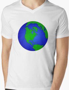 Globe Mens V-Neck T-Shirt