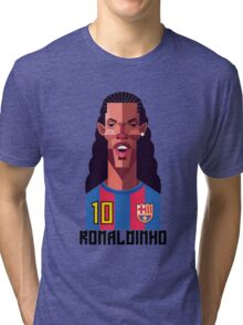 Ronaldinho Football Soccer Barcellona Barcelona calcio  Tri-blend T-Shirt