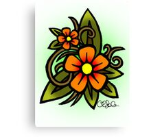 Flowers Dull Canvas Print