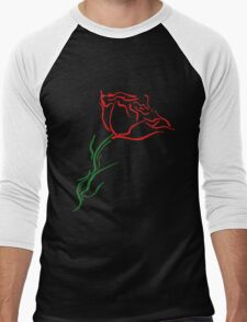 Blooming Rose Men's Baseball ¾ T-Shirt
