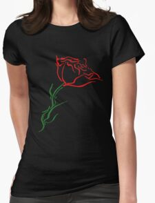 Blooming Rose Womens Fitted T-Shirt