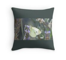 Butterfly on Lavender Throw Pillow