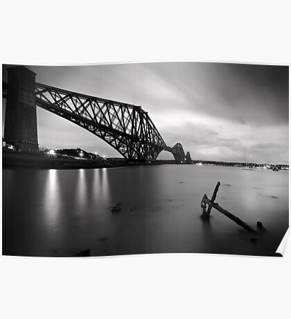 The Forth Rail Bridge crossing between Fife and Edinburgh, Scotland. Poster