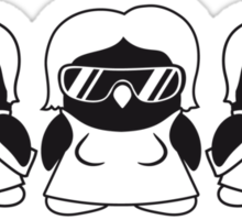 Cool Penguin Girls Gang Sticker