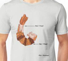Ron Swanson on bacon wrapped shrimp Unisex T-Shirt