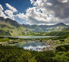 Mountain Lakes Landscape by PatiDesigns