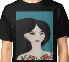Girl with the Rose Tattoos Classic T-Shirt