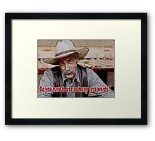 The Stranger Framed Print