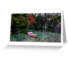 Pull up a seat Greeting Card