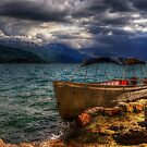 Incoming Storm at Lake Ohrid by Robyn Carter