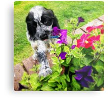 Eli and the Flowers Metal Print