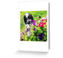 Eli and the Flowers Greeting Card