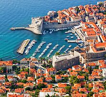 Dubrovnik Old Town on the Adriatic Sea by Artur Bogacki