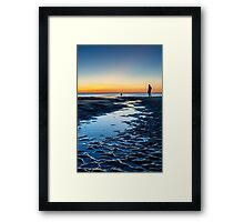 An Evening at the Beach Framed Print