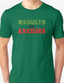 Results or Excuses | Fitness Slogan | Retro T-Shirt