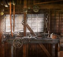 Steampunk - Machinist - My tinkering workshop  by Mike  Savad